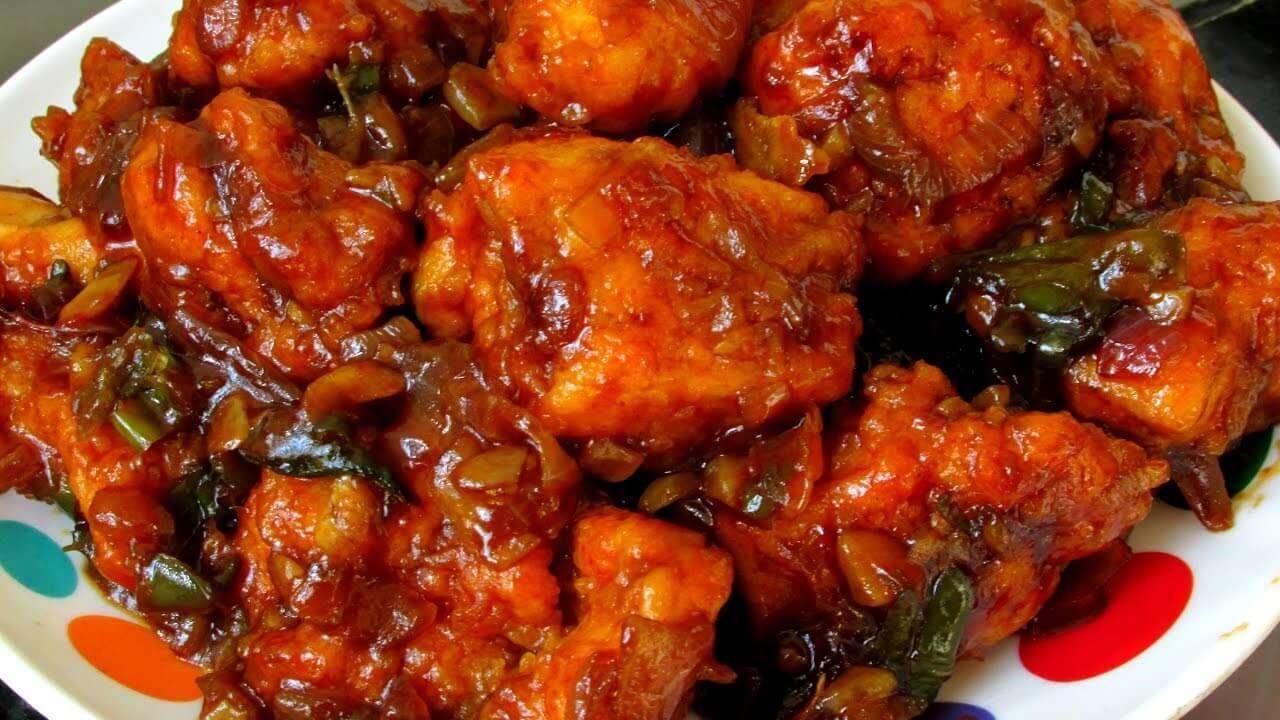Dry Chilli Chicken - Bombay Grill Milton