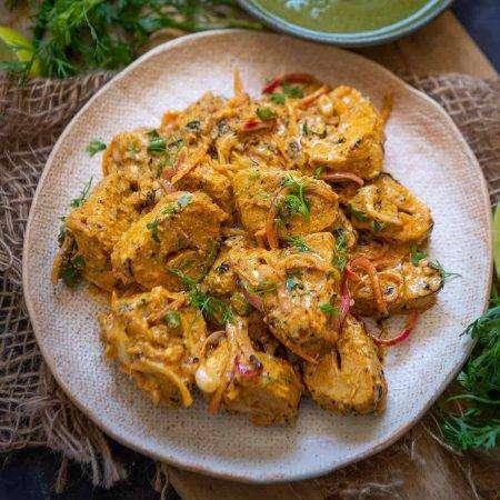 Achari Soya Chaap Tikka - Bombay Grill Milton