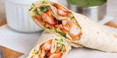Chicken Tikka Wrap - Bombay Grill Milton