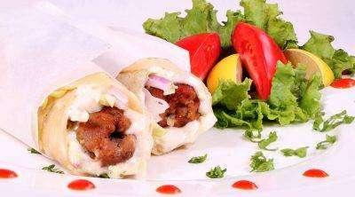 Lamb Kabab Roll - Bombay Grill Milton
