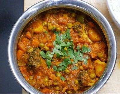 Vegetable Vindaloo - Bombay Grill Milton